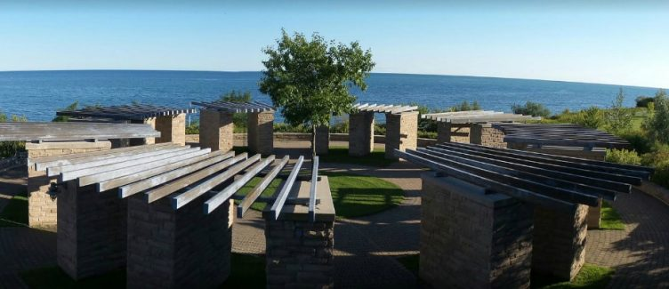 View of Lake Ontario from Ajax waterfront Park