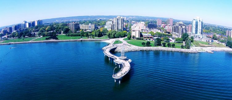 airial view of Bulington Ontario