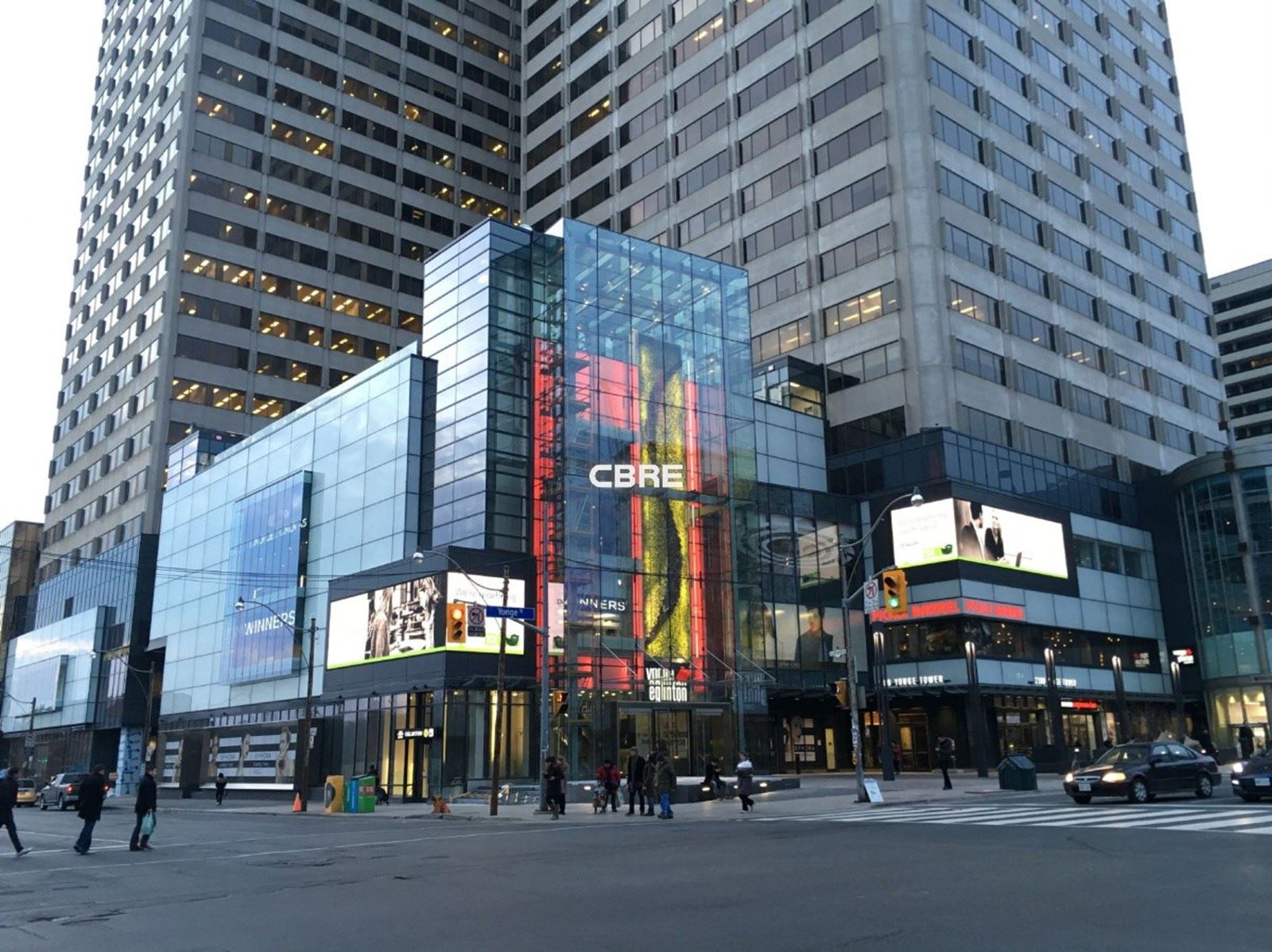 Exterior view of building at 2300 Yonge St. Toronto
